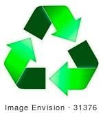 #31376 Recycling Symbol Illustration by Oleksiy Maksymenko