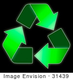 #31439 Recycling Symbol Illustration