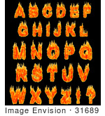 #31689 Burning Alphabet