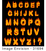 #31694 Burning Alphabet