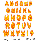 #31738 Burning Alphabet