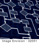 #32051 Abstract Flowchart Background
