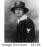 #32126 Stock Photo Of Joy Bright Hancock Yeoman First Class Usnr Posing In Her United States Navy Uniform February 1918