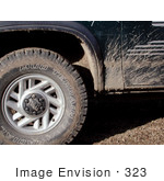 #323 Photograph Of Dried Dirt On A Truck