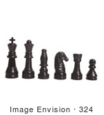 #324 Photo of Black Chess Pieces on White by Jamie Voetsch