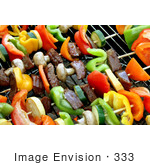 #333 Image of Shish Kebobs on a BBQ by Jamie Voetsch