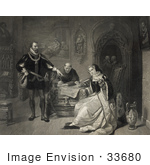 #33680 Stock Illustration Of The Signing Of The Death Warrant Of Lady Jane Grey by JVPD