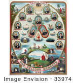 #33974 Stock Illustration Of The Odd Fellows Members With Biblical Scenes On The Odd Fellows Memento by JVPD