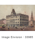 #33985 Stock Illustration Of Odd Fellows Hall In Boston Massachusetts