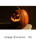 #34 Halloween Picture Of A Scary Carved Pumpkin