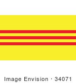 #34071 Clip Art Graphic Of The Red And Yellow Bands On The Former South Vietnam Flag