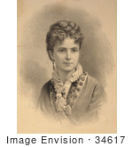 #34617 Stock Illustration of Mrs. Ann Eliza Young, Known As The 27th Or 19th Wife Of Mormon Polygamist Brigham Young by JVPD