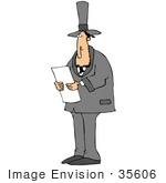 #35606 Clip Art Graphic Of Abraham Lincoln Delivering A Political Speech