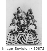 #35672 Stock Photo Of A Man Actor De Wolf Hopper Surrounded By A Group Of Beautiful Ladies In Dresses Performing During The Broadway Musical El Capitan 1896