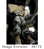 #36173 Stock Photo Of A Soldier Securing His Turret During A Mounted Patrol Through Baghdad Iraq