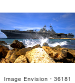 #36181 Stock Photo Of The Amphibious Assault Ship Uss Kearsarge (Lhd 3) Visiting The Netherlands Antilles For The Humanitarian Service Project Continuing Promise 08