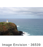 #36539 Stock Photo Of The Kilauea Lighthouse With A Bold View Of The Pacific Ocean Kauai Hawaii
