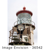 #36542 Stock Photo Of The New And Old Lights Of The Kilauea Lighthouse Kauai Hawaii