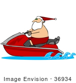 Clip Art Girl on a Jet Ski