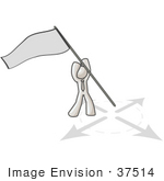 #37514 Clip Art Graphic Of A White Guy Character Claiming Territory