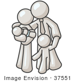 #37551 Clip Art Graphic Of A White Guy Character Family