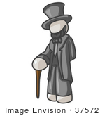 #37572 Clip Art Graphic Of A White Guy Character As Abraham Lincoln