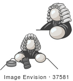 #37581 Clip Art Graphic Of A White Guy Character Judge