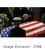 #3786 Betty Ford Over Casket Of Gerald Ford
