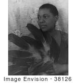 #38126 Stock Photo Of Blues Singer Bessie Smith Holding Feathers And Looking Off To The Left
