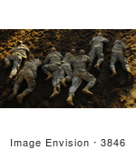 #3846 Soldiers Crawling On Ground
