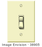 #38905 Clip Art Graphic Of An Off Light Switch