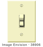 #38906 Clip Art Graphic Of An On Light Switch