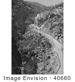 #40660 Stock Photo Of A Winding Dirt Road Along Ute Pass Through Mountains In Colorado