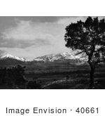 #40661 Stock Photo Of A Landscape Of A Country Road Near The Spanish Peaks Of The Sangre De Cristo Mountains On The Santa Fe Trail