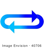 #40706 Clip Art Graphic Of Gradient Dark And Light Blue Arrows Circling In An Oval In A Clockwise Motion