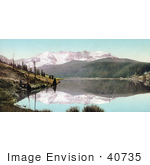 #40735 Stock Photo Of The Snow Capped San Juan Mountains Reflecting On The Still Waters Of Trout Lake Colorado