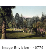 #40779 Stock Photo Of A Lush Garden With Exotic Plants At Lucky Baldwin'S Ranch In Pasadena California