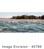 #40789 Stock Photo Of Rough Waters At Split Rock Rapids On The Saint Lawrence River Canada