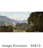 #40813 Stock Photo Of A Landscape Of Forests And Hills Near Pike'S Peak As Seen From Near Colorado City