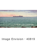 #40819 Stock Photo Of A View Of Fort Sumpter In The Distance Of Charleston Harbor South Carolina
