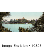 #40823 Stock Photo Of A Building On The Banks Of Lake Merritt Oakland California