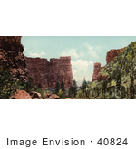 #40824 Stock Photo Of The Sandstone Rock Formation Of Castle Gate In Utah