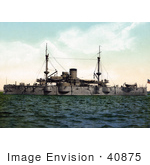 #40875 Tock Photo Of The Battleship Uss Texas