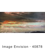 #40878 Stock Photo Of A Beautiful Sunrise Over The Clouds As Seen From Pike'S Peak