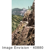#40880 Stock Photo Of Silverton Toll Road Winding Along The Mountainside Ouray Colorado