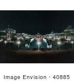 #40885 Stock Photo Of Lights Illuminating The Grand Court At The Trans Mississippi And International Exposition In Omaha Nebraska
