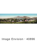 #40896 Stock Photo Of A Panoramic View Of The City Of Boulder Colorado With The Rocky Mountains In The Distance