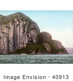 #40913 Stock Photo Of Cape Trinity And Cliffs On The Saguenay River Quebec Canada