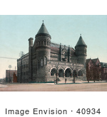 #40934 Stock Photo Of The Detroit Museum Of Art Building Now Called The Detroit Institute Of Arts In Detroit Michigan