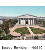 #40940 Stock Photo Of The Gardens And Main Building At Girard College In Philadelphia Pennsylvania
